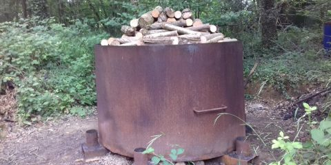 kiln filled up with wood