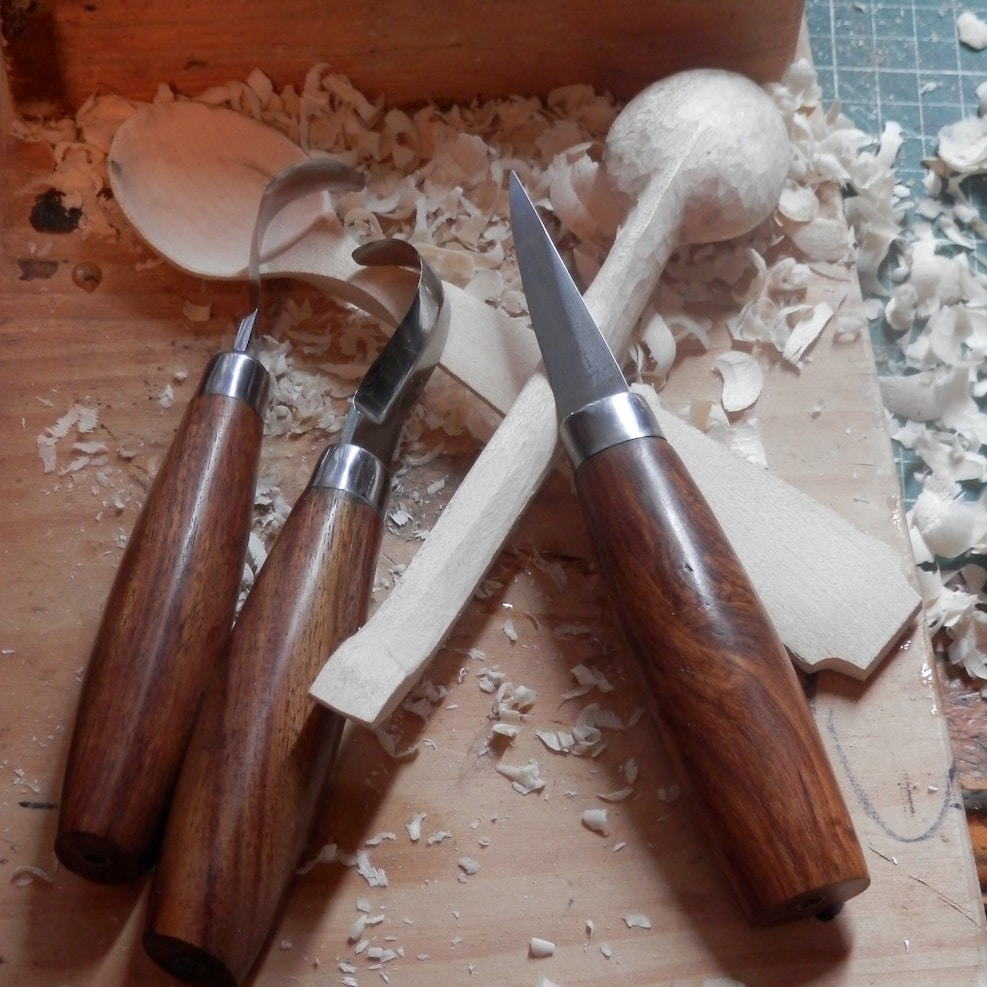 Making A Carving Knife: Casstrom: Spoon Carving Knife Set
