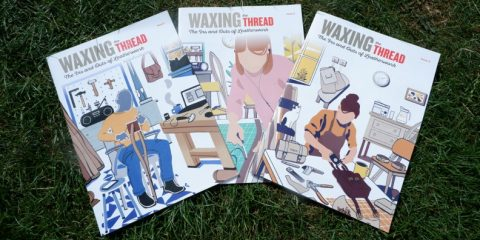 waxing the thread cover