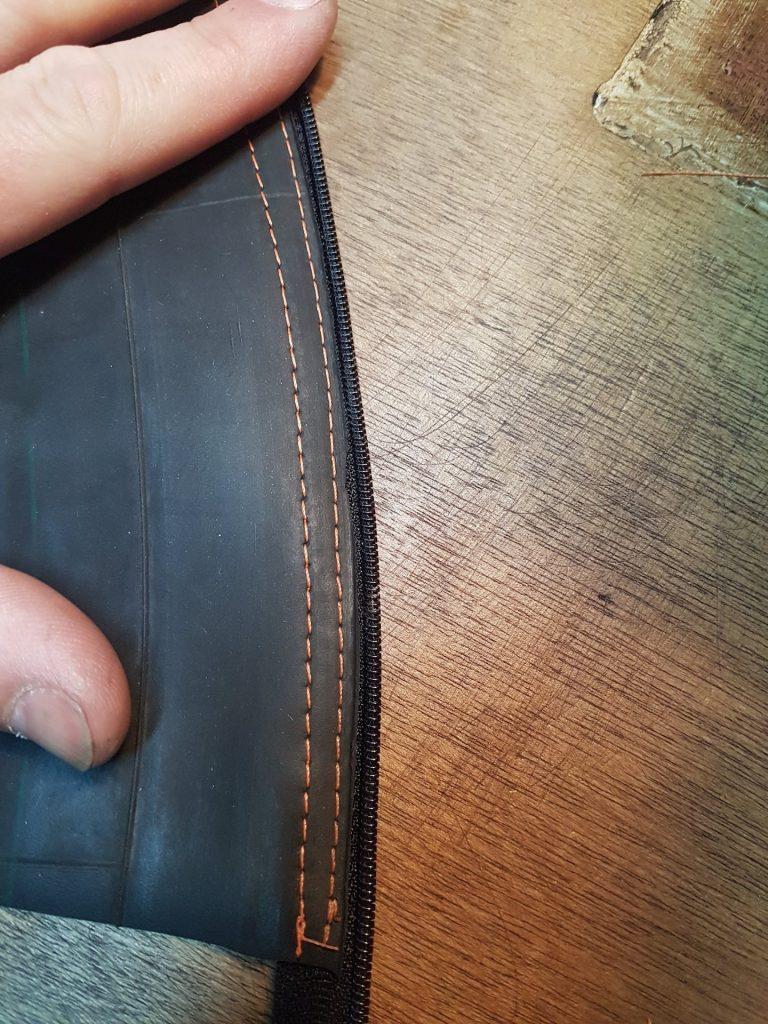 double sewn zip